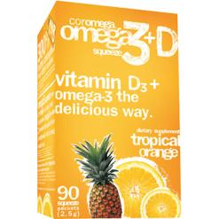 Coromega Tropical Orange amp Vitamin D3 90 packets C45226