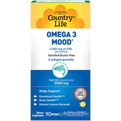 Country Life Omega 3 Mood 90 gels C41207