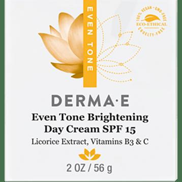 DERMA E Natural Bodycare Evenly Radiant Day Crème 2 oz D03338