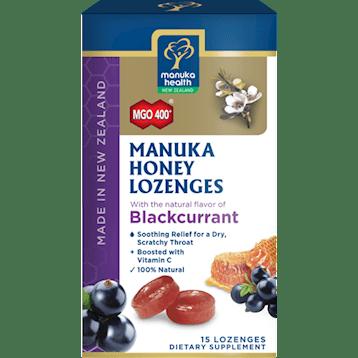 Manuka Health Manuka Honey Blackcurrent 15 lozenges M02350