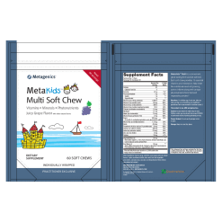 MetaKids Multi Soft Chew Label