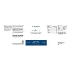 Metagenics ArginCor Label