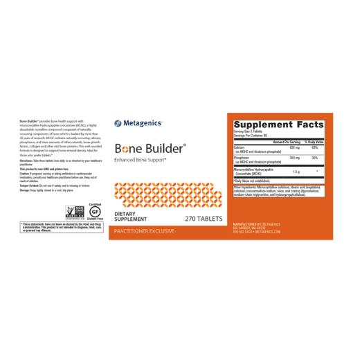 Metagenics Bone Builder Label