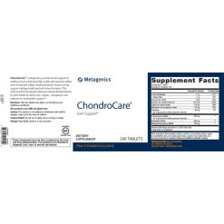 Metagenics ChondroCare 240s Label