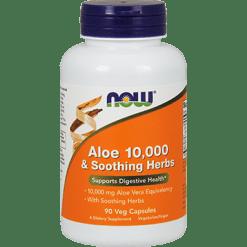 NOW Aloe 10000 amp Soothing Herbs 90 vegcaps N30252