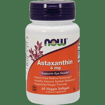 NOW Astaxanthin 4 mg 60 veggie softgels N3251