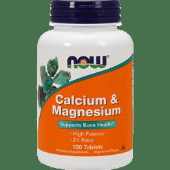 NOW Calcium amp Magnesium 100 tabs N12708