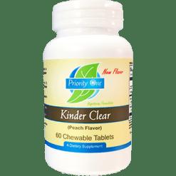 Priority One Vitamins KinderClear 60 chewable tabs PR1812