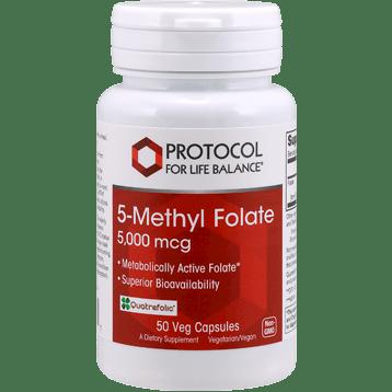 Protocol For Life Balance 5 Methyl Folate 5000 mcg 50 vegcaps P04921