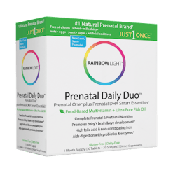 Rainbow Light Nutrition Prenatal Daily Duo 30 tabs 30 Softgels R60006
