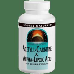 Source Naturals Acetyl L Carnitine Alpha Lip. Acid 60tab SN1799
