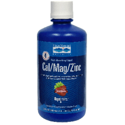 Trace Minerals Research Liquid Cal Mag Zinc Strawberry 32 oz T02304