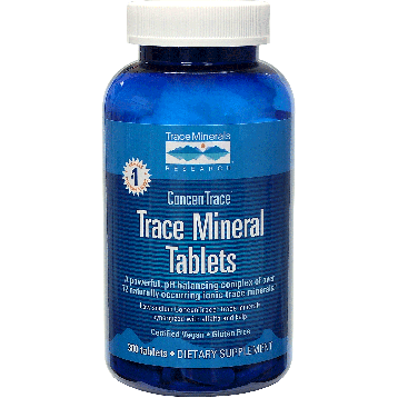 Trace Minerals Research Trace Mineral Tablets 300 tablets T01062