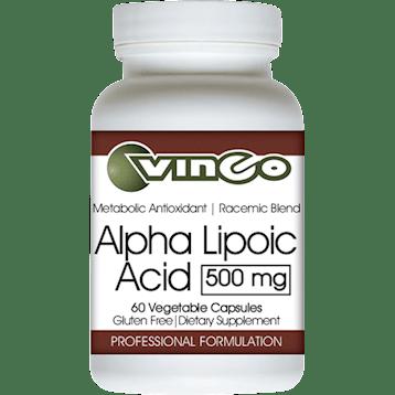 Vinco Alpha Lipoic Acid 500mg 60 vegcaps V75805