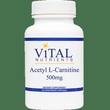 Vital Nutrients Acetyl L Carnitine 500 mg 60 vcaps VNALC