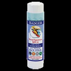 W.S. Badger Company Zinc Oxide Face Stick SPF 35 0.65 oz B72004