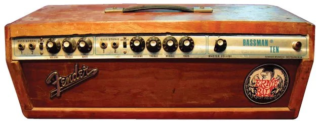 Some Old Combo Amps Like This Early 70s Silverface Fender Bassman Ten Have Undergone A Head Transplant Someone Removed The Original Amplifier Section