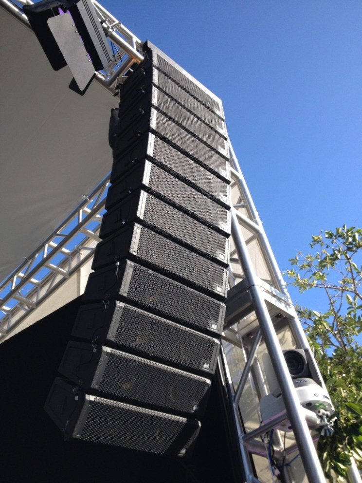 al-4 12 box line array PA and Monitor System