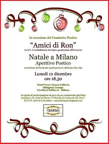 La Milano poetica si prepara al Natale