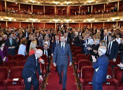 HM the King and the Lehendakari presided over the 8th edition of the Novia Salcedo Awards