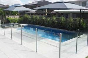 Semi frameless glass pool fencing post fence Perth. Free quote.