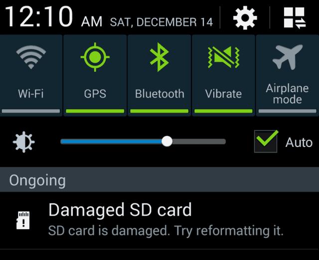 fix a damaged SD card