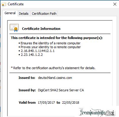 casino ssl certificate