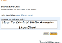 contact with amazon live chat