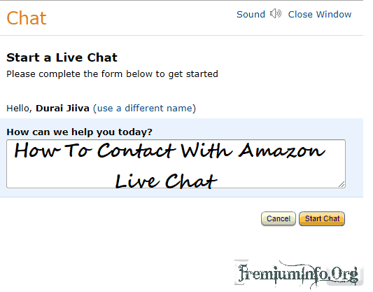 Chat on line amazon