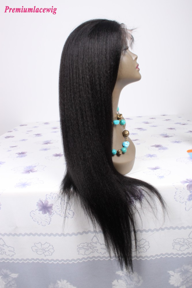 Brazilian Virgin Hair Kinky Straight Full Lace Human Hair
