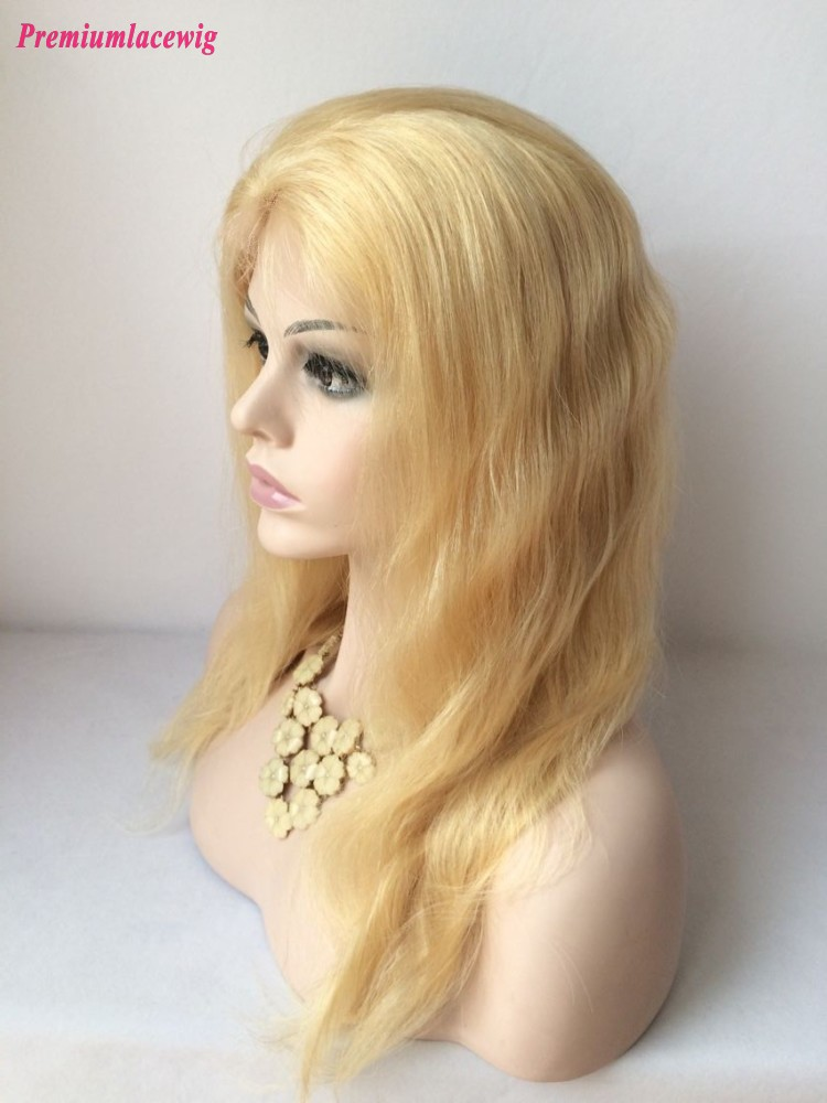 20inch 613 Color Lace Front Wig Brazilian Blonde Hair Body