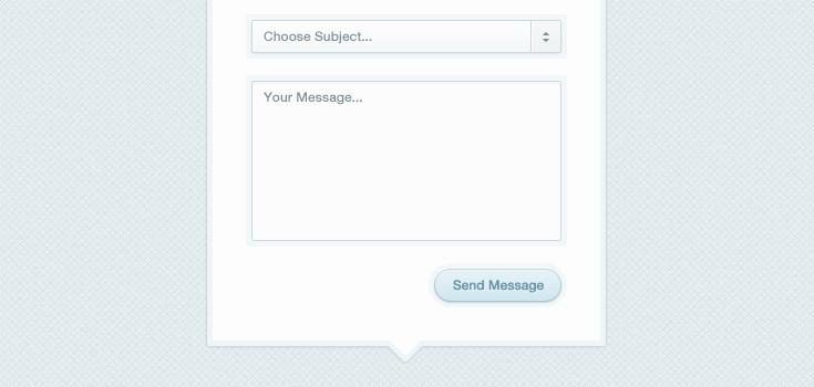 Modal Box Contact Form Psd