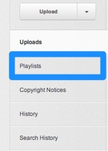 how to create playlist on youtub