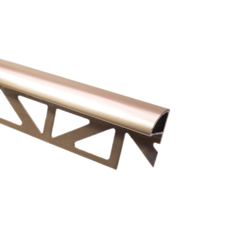 round edge warm copper tile trim drae by dural