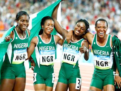 Nigeria women 4x100 London Olympics