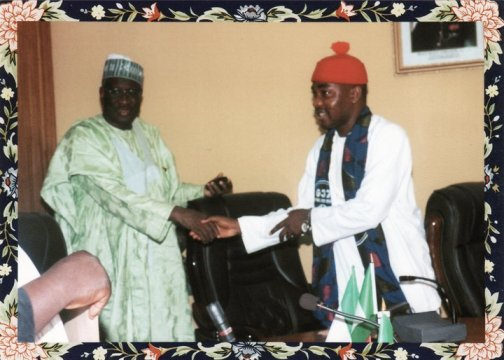 Former PDP Deputy National Chairman, Bello Mohammed and Ikenga Ugochinyere