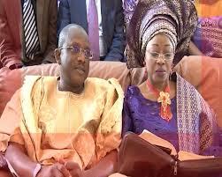 Late Funmi Olayinka and husband, Lanre