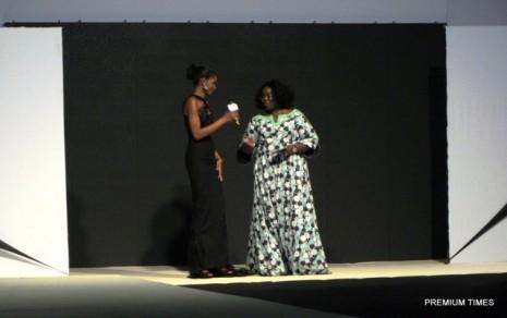 Former Miss World, Agbani Darego, the hostess and Ibim Semenitari, Rivers state Information Comiisioner