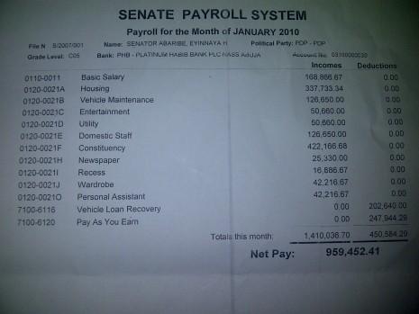 Senate Payroll System