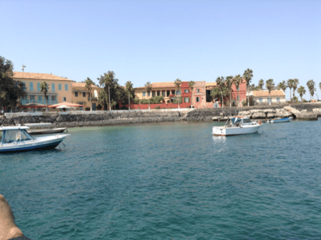 A view of Goree Island from the sea.