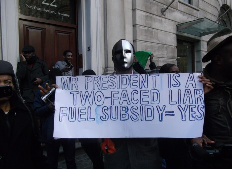 Dalhatu snubs Nigerian fuel subsidy protesters in the UK
