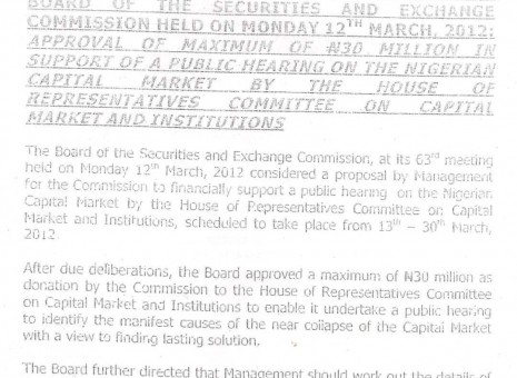 Documents show House was first to approach SEC for N40million