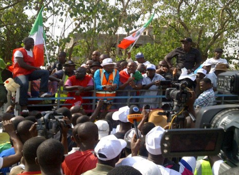 Protest against fuel subsidy removal in pictures