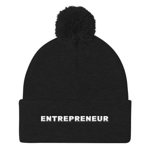 Entrepreneur Pom Pom Knit Cap