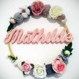Mathilde couronne fleurie en bois