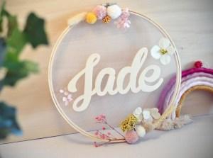 Couronne prénom en bois Jade