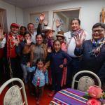 Ministro Yáñez hace entrega de 357 viviendas rurales en Huancané y se reunió con autoridades provinciales y regionales
