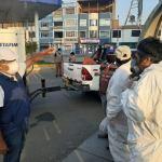 Calles y avenidas de El Porvenir son fumigadas para evitar la propagación del coronavirus