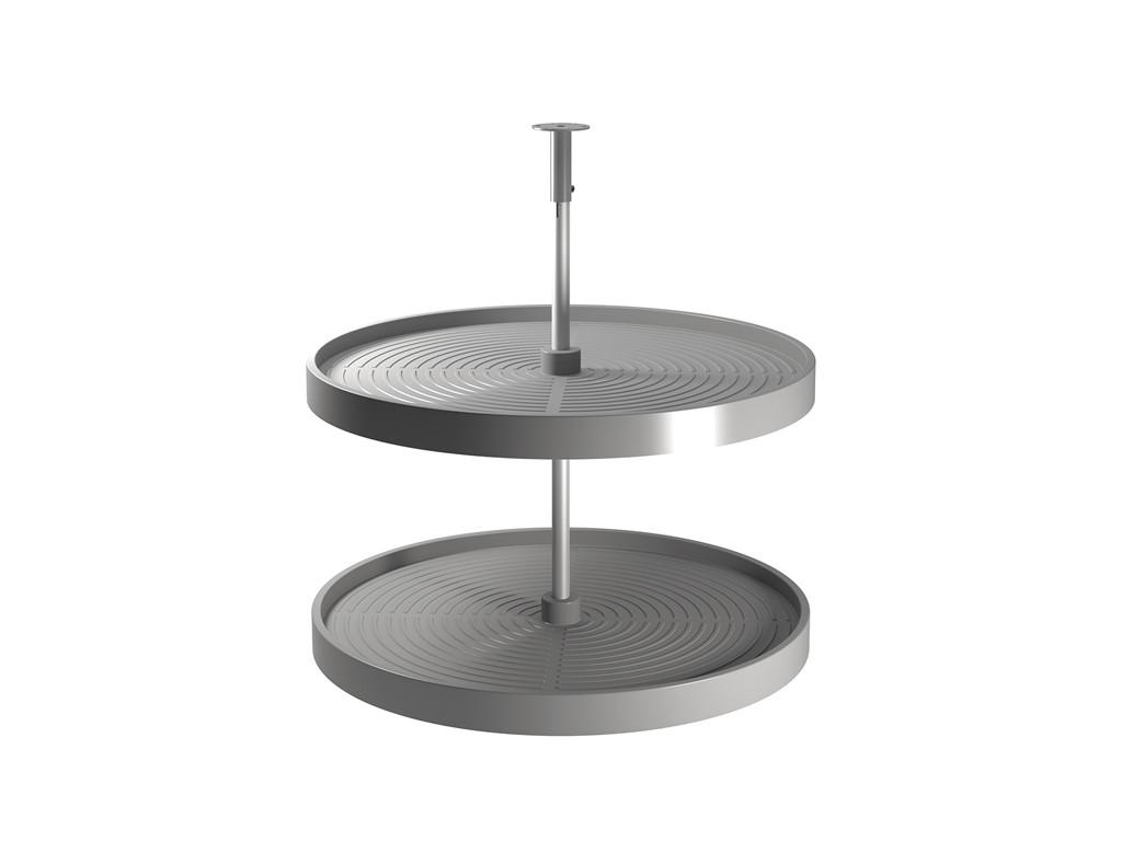 plateau rond tournant 2 niveaux pour meuble cuisine