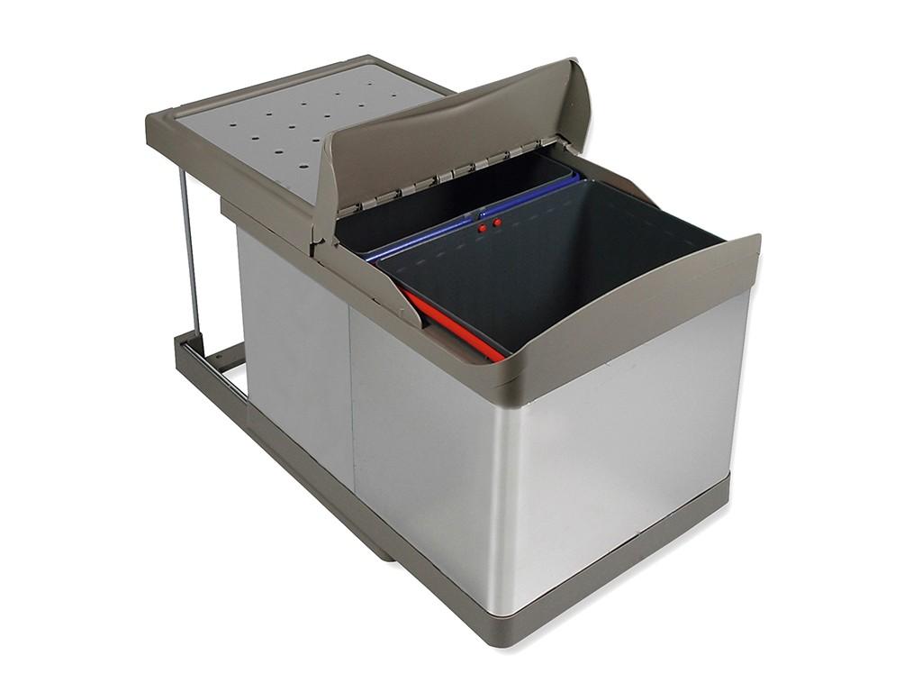 Conteneur Poubelle 2 Bacs Ouverture Automatique Prentout